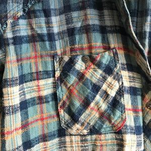 Free people plaid button down flannel